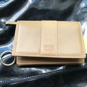 Coach key chain card wallet